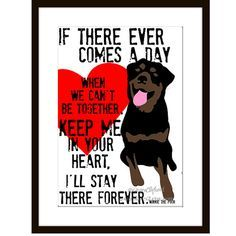 """Rottweiler Digital Art Print Memorial Love Print by GoingPlaces2 