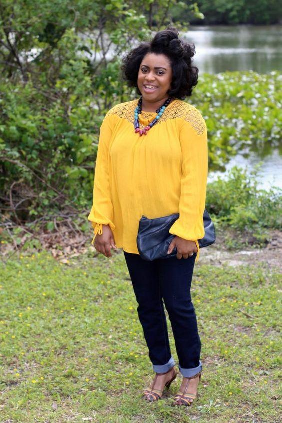 Crochet Yellow Blouse