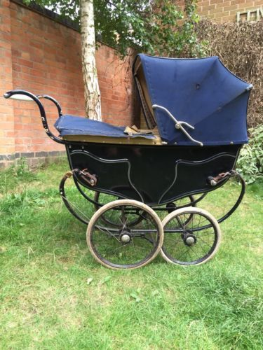 Vintage 1940's Silver Cross Baby's Pram For Restoration in Baby, Pushchairs, Prams & Accs., Pushchairs & Prams | eBay