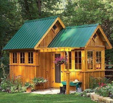 Garden shed guest house playhouse building plans great for Storage shed playhouse combo plans