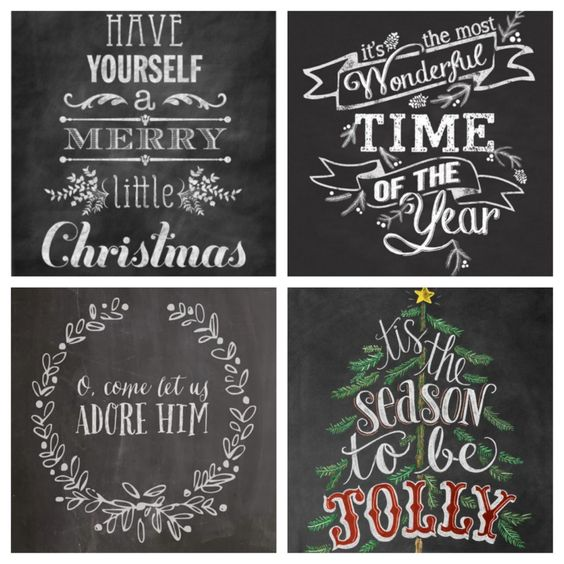 Christmas Chalkboard Art!  #christmaschalkboardart #chalkboardart #christmas #christmasdecorating http://www.thepiggytoes.com/2014/12/17/farmhouse-christmas-home/