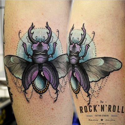Beetles make me cringe, but this is a nice tattoo nonetheless.