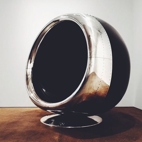 A Beautiful Chair Created From the Recycled Engine Cowling of a Boeing 737 Aircraft by @fallen_furniture #dcninteriors
