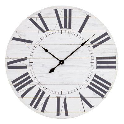 Gracie Oaks Oversized Katie French Country With Shiplap Face 23 Wall Clock Country House Decor French Country Decorating French Country Rug