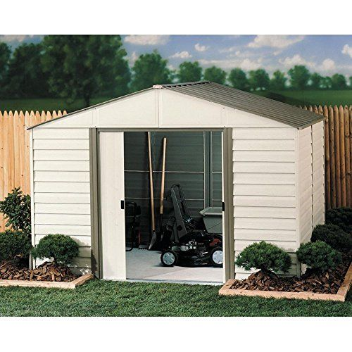 Arrow Shed Vinyl Milford Shed 10 X 8 Ft Amazon Best Buy Garden Storage Shed Vinyl Sheds Steel Storage Sheds