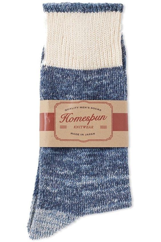 Homespun cotton socks.