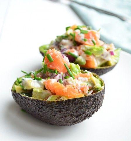 Gevulde avocado met zalm - healthy avocado with salmon