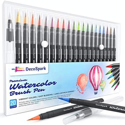 Shuttle Art 26 Pack Real Watercolor Brush Pens 25 Colors