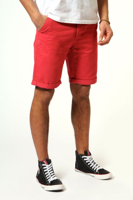 Burnt Red Chino Shorts | What Guys Wear | Pinterest | Red, Boots ...