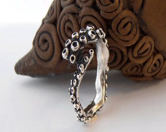 Anillo de pulpo en plata esterlina anillo de por TheManerovs