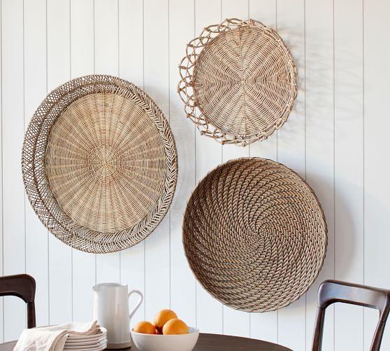 Jasper Natural Rattan Basket Wall Art Basket Wall Art Baskets