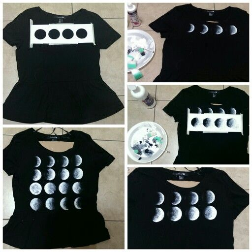 Moon phases brandy melville and peplum shirts on pinterest for Diy tee shirt printing