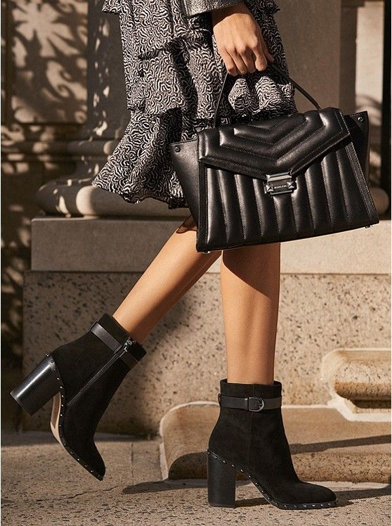 MICHAEL KORS Livvy Suede Ankle Boot in 2019