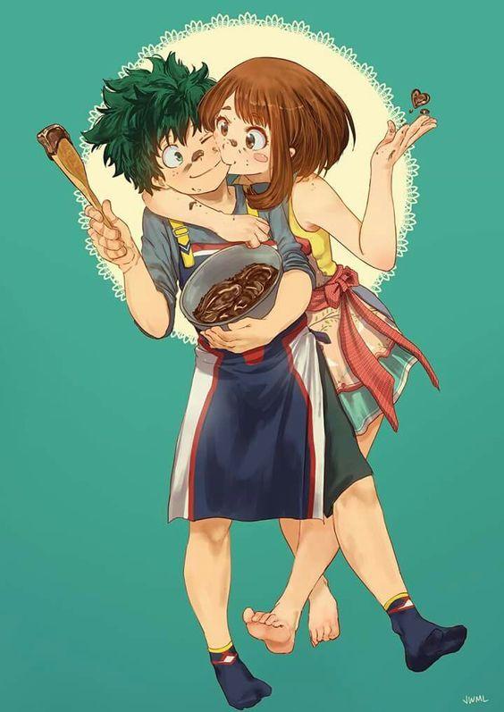 Midoriya Izuku Uraraka Ochako The Pretty Couple