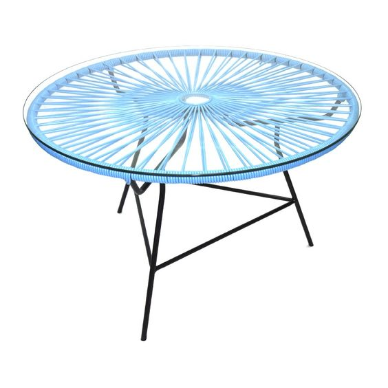 table scoubidou table acapulco table basse jardin scoubidou bidouhou rotin co pinterest. Black Bedroom Furniture Sets. Home Design Ideas