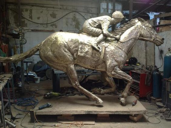 Our champion Black Caviar has been immortalised in bronze. Superb work by famed sculptor Mitch Mitchell.