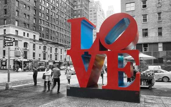 LOVE sculpture designed by Robert Indiana, New York