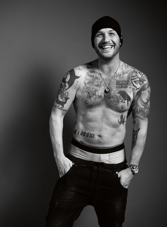 Tom Hardy - UK Esquire January 2017- he is the only man the saggy pants look is acceptable on!: