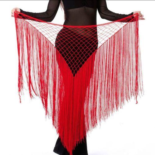 Belly-Dance-Costume-Tribal-Tassel-hip-scarf-wrap-belt-Skirt-Fringes-New-Style