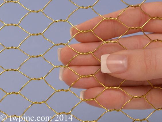 1 2 Inch Brass Hex Mesh 22 Gauge Chicken Wire Metal Mesh Mesh