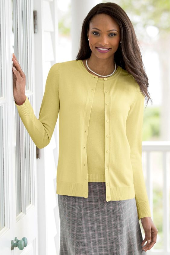 Collection featherweight cashmere cardigan sweater in gingham | J ...