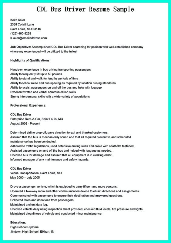 sample resume arabic - http\/\/resumesdesign\/sample-resume - driver resume