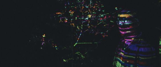 woods psychadelic stargazing night sky