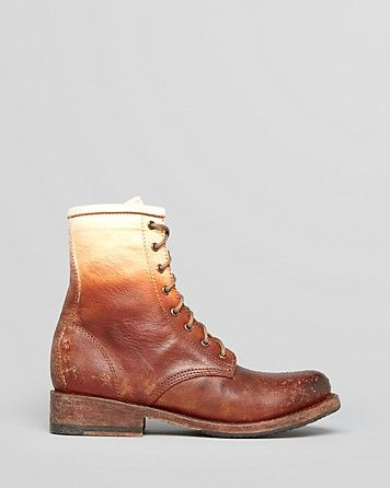 FREEBIRD by Steven Lace Up Combat Boots - Ombré | Bloomingdale's