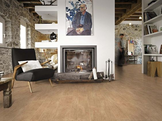 Porcelain wood ceramic tiles with parquet effect: belgique ...