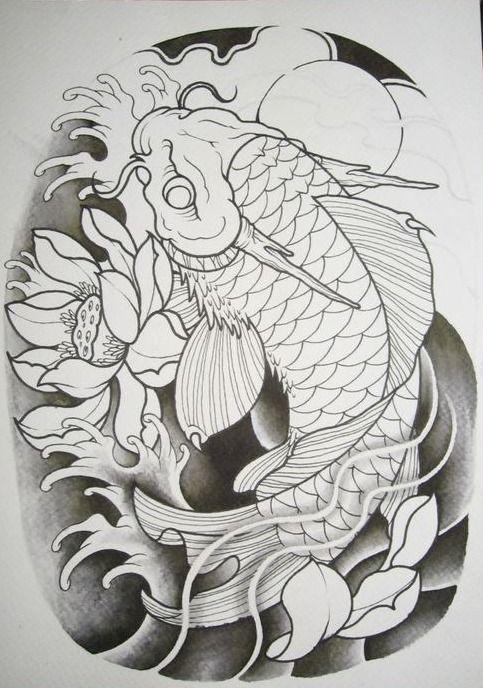 Pin De Lucas Laguna En Tatuaje Japones Tatuaje De Dragon Koi Tatuaje De Koi Pez Koi Dibujo