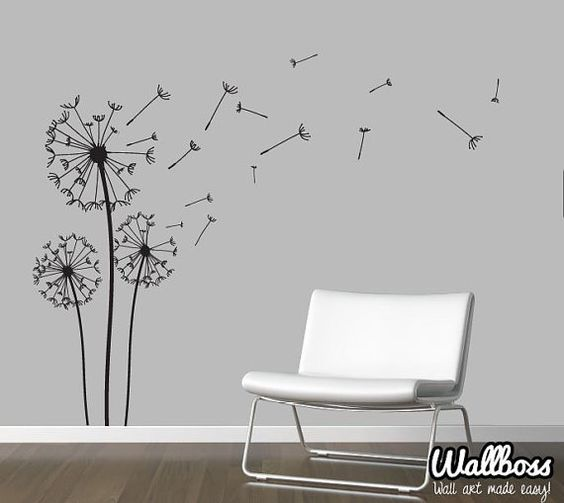 Dandelion Wall Decal - Wall Stickers Blowing Away In The ...