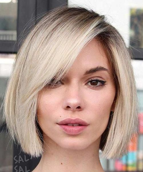 Romantic Chin Length Haircut Styles With Long Bangs For Women To Reach Perfection Magnificent Medium Bob Hairstyles Bob Hairstyles Long Bob Blonde
