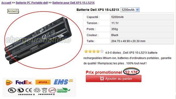 http://www.chargeursbatterie.com/c-Dell_27/p-Dell-XPS-15-L521X_883.html ,Dell XPS 15-L521X batterie rechargeables lithium-ion, batteries d'ordinateurs portables