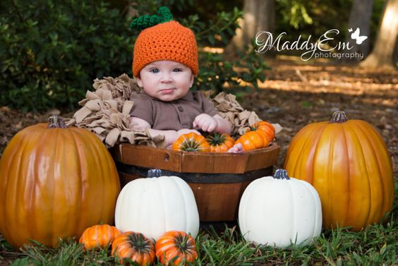 0 to 3 Month, 3 to 6 Month 6 to 12 Months, Toddler, Pumpkin Beanie, Halloween, Autumn, Crochet Baby Hat, Photography Prop on Etsy, $14.00