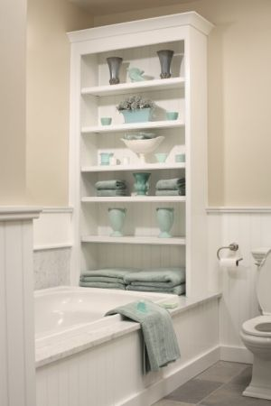 LOVE this built in shelf.
