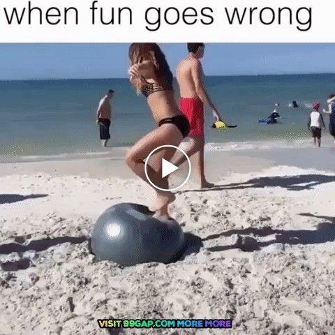 Moça faz loucura cai e bate a cabeça forte