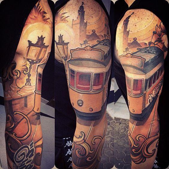 streetcar sleeve by Logan at Barracuda Tattoo