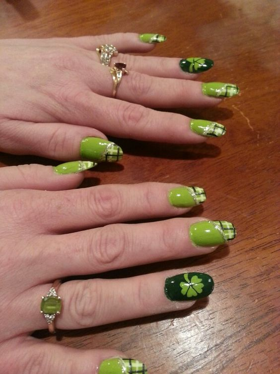 St. Patty's nails