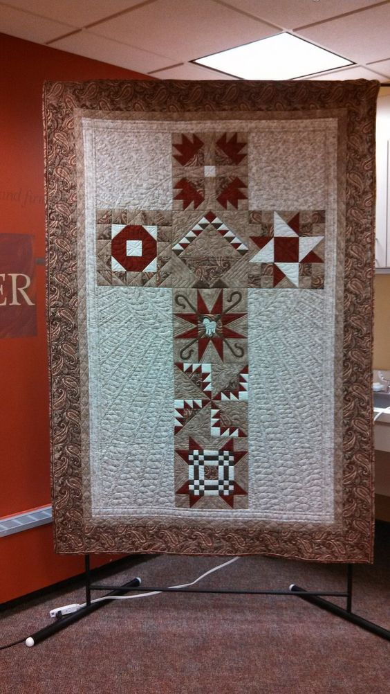 the cross  crosses and cross quilt on pinterest