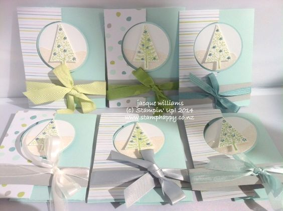 Stampin up festival of trees extended circle thinlits