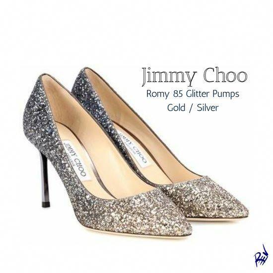 Jimmy Choo | Romy 85 Glitter Pumps