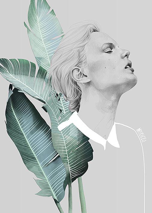 Foliage Girl - fashion illustration