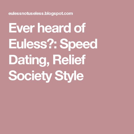 speed dating blogspot