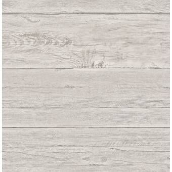 Bettencourt Reclaimed Shiplap 18 X 20 5 Peel And Stick Wallpaper Roll Gray Shiplap Wood Wallpaper White Wash