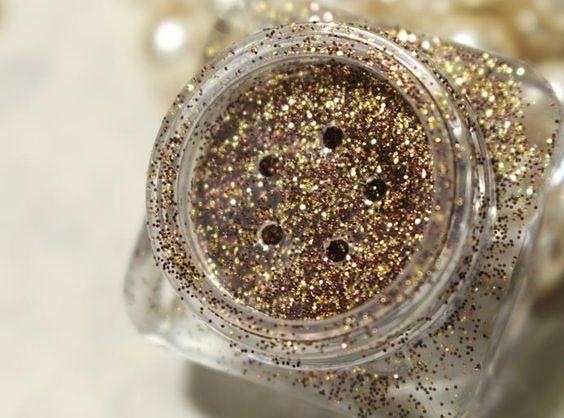 Glitter marrom dourado da BeGlow Make Up