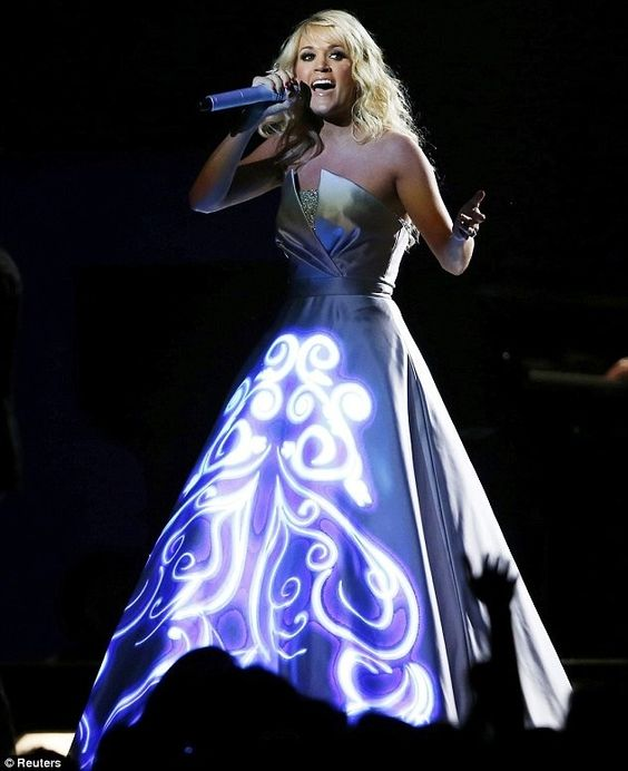 Carrie underwood's light up dress