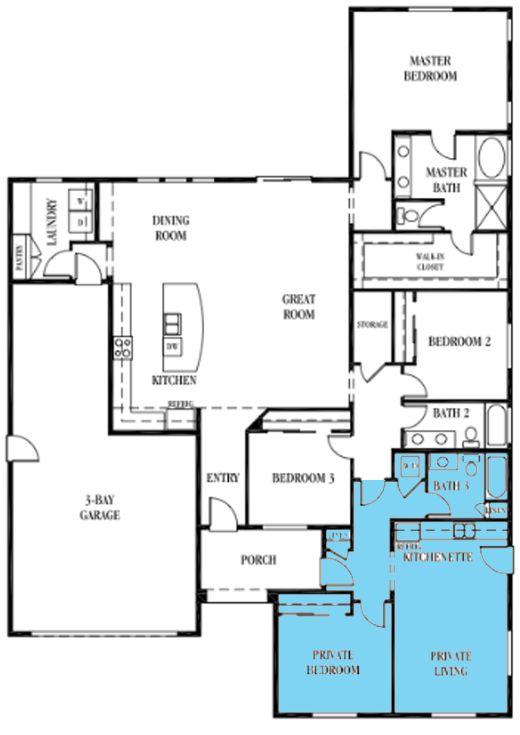 multi generation house plan | floor plans | pinterest | 3 car