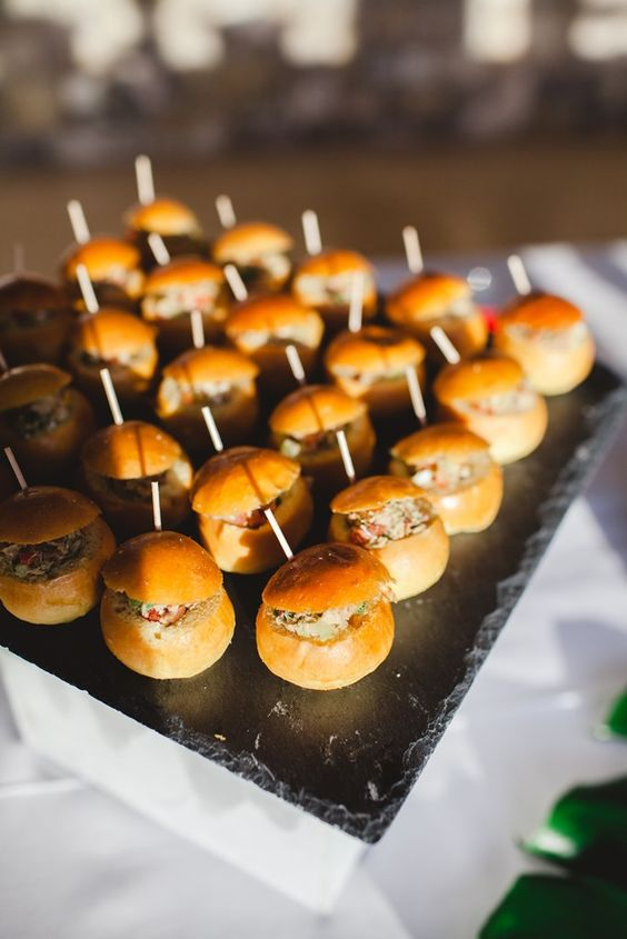 Canapes at a celebration at La Bergerie, France
