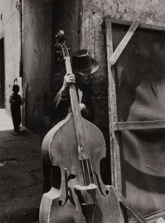 "the–elusive–muse: "" Lola Álvarez Bravo: Man with contrabass, 1950s """