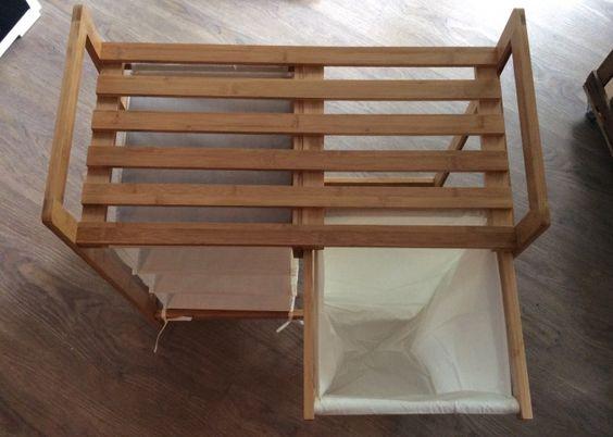 Relaxdays - 10019206 Wäschesammler Bambus